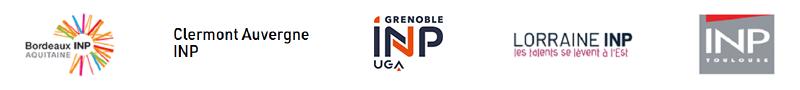 logos des 5 INP